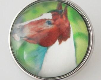 KB4324 Art Glass Print Chunk - Horse