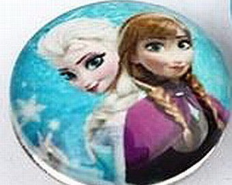 Frozen Art Glass Print Chunk