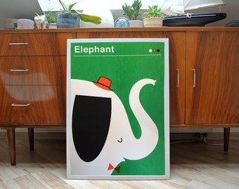 Elephant | screenprint poster | limited of 40