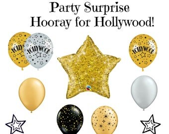 Hollywood Balloons, Oscars Party Balloons, Movie Night Balloons, Star Balloons, Theater Balloons, Rising Star Broadway Tonys Thesbian