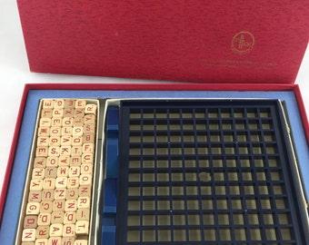 Vintage Scrabble Brand RSVP Three Dimensional Crossword Game 1966