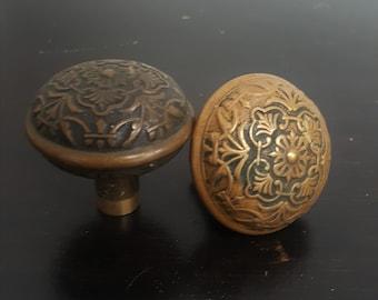 Ornate Decorative Bronze Doorknobs 530752