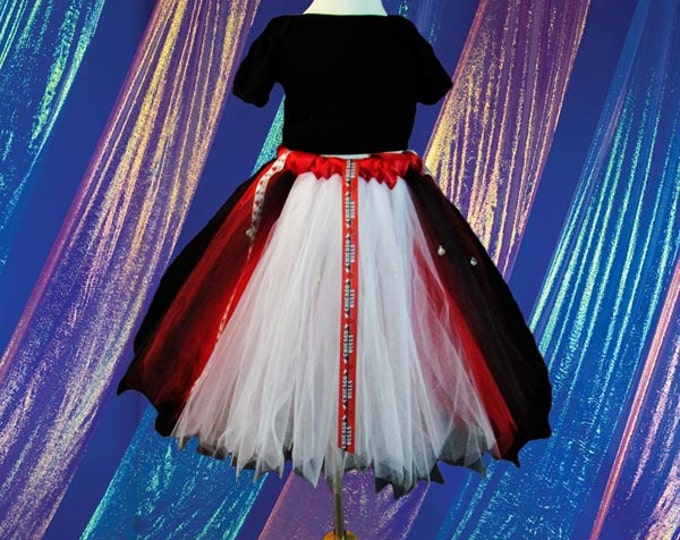 Chicago Bulls Style Tutu Skirt