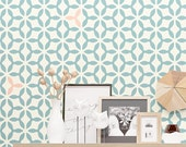 Seamless Pattern Wall Stencil - Modern Geometric Wall Decor Stencil - Reusable Stencil
