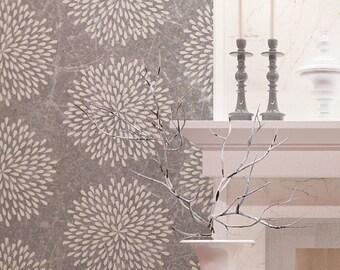 Flower Wall Stencil - DIY Wall Decor Stencil - Reusable Wall Stencil