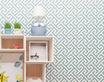 Modern Geometric Pattern Stencil - Unique and Original Wall Stencil