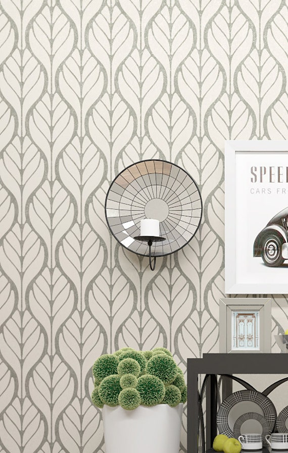Wall decor allover stencil floral motive pattern wall for Bathroom stencils designs