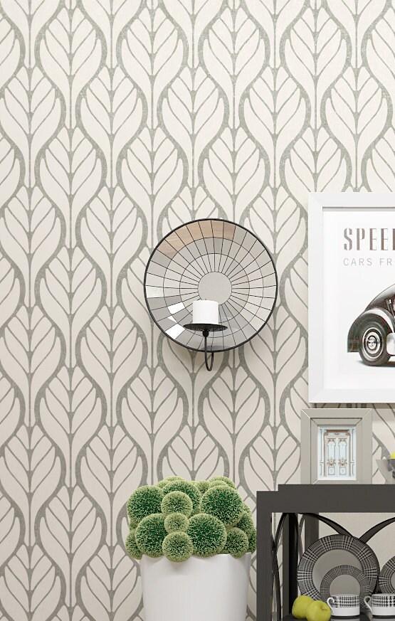 Ti Design Wall Art : Wall decor allover stencil floral motive pattern