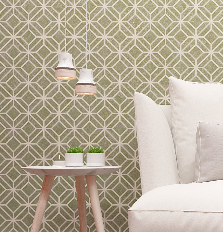 pochoir motif marocain mural pochoir classique mur. Black Bedroom Furniture Sets. Home Design Ideas