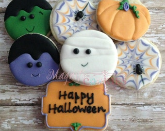 Halloween decorated cookies - may be PERSONALIZED