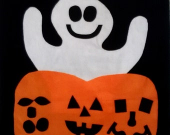 Large Felt Pumpkin and Ghost to Decorate for Halloween