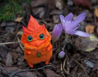 "MADE TO ORDER art toy ""Autumn Leaf spirit"" oaak doll fantasy creature kodama"