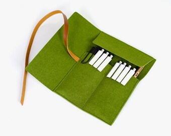 4 Colors|Felt Made Pencil Case|Stationary Case|Accessories Keeper|Case|File|Folder|Office Bag|Handbag|Clutch