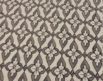 Black and White Floral Patterned Fabric