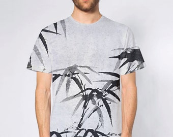 KillerBeeMoto: Sumi-e Style Bamboo Ink Painting On T-Shirt