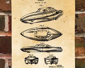 KillerBeeMoto: Duplicate of Original U.S. Patent Weddell Vintage Car Design
