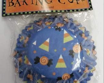 Halloween candy baking cups