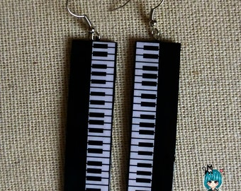 Handmade Earrings 07 Piano Original Jewelry by Sapphire