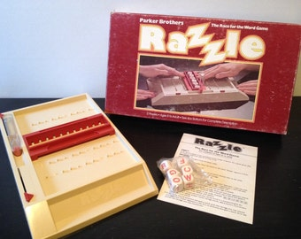 Razzle by Parker Brothers, 1981 - Vintage 1980s Word Dice Game - Complete