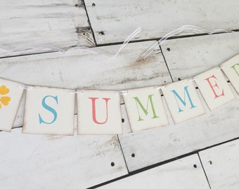Summer Banner• Summer Decorations Summer Garland • Home Decor • Home Decorations