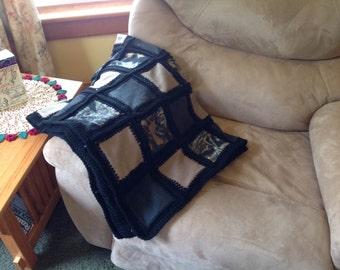 Camo fleece throw - fusion quilt