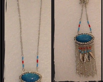 Long Necklace Native American inspirited