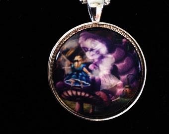 Alice and The Caterpillar pendant