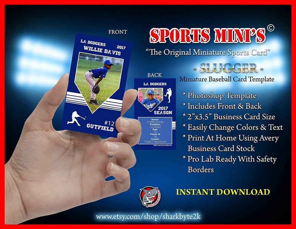 2017 miniature baseball card photoshop template for printing. Black Bedroom Furniture Sets. Home Design Ideas