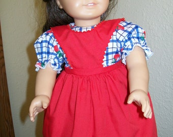 Kirsten Pinafore Dress in three colors for 18 Inch or American Girl Dolls