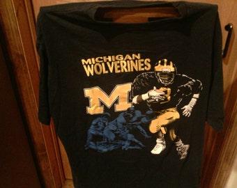 Vintage Nutmeg Michigan Football T-Shirt