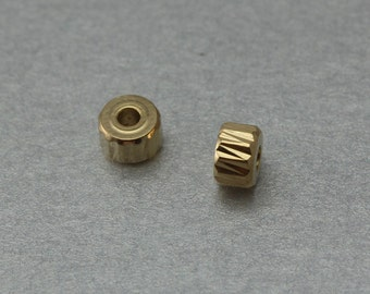 Rondell Brass Spacer . Polished Gold Plated . 10 Pieces / C4034G-010