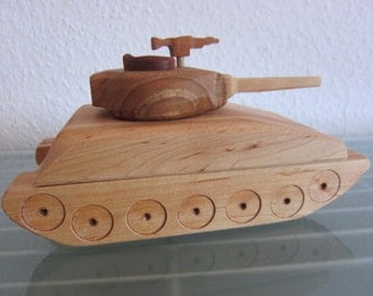 Sherman USA U.S battle tanks HANDMADE large floor model wood