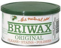 Briwax Paste Wax 16 Oz. All Colors!- Original Wood Furniture Polish, Cleans and Stains!