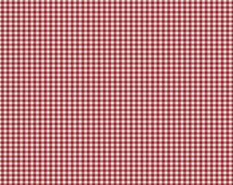 Red Gingham Fabric - By The Yard - Boy / Girl / Gender Neutral