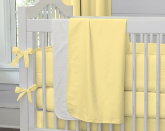 Girl Baby Bedding / Boy Baby Bedding / Gender Neutral Baby Bedding: Solid Banana Crib Blanket by Carousel Designs