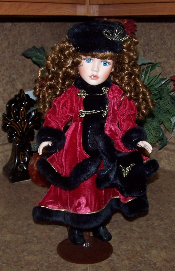 items similar to reserved dan dee collector 39 s choice 17 handcrafted porcelain doll in red. Black Bedroom Furniture Sets. Home Design Ideas