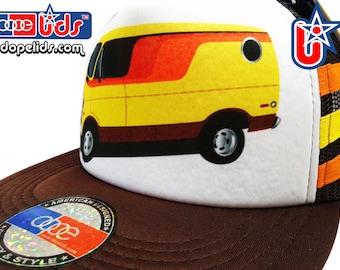 smART-patches 79eighty Vintage Style 70's 80's Custom Shaggin' Van Trucker Hat Cap