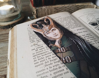 LOKI bookmark 20x5cm/ 8x2inches approx - Laminated PRINTED BOOKMARK art collectible gifts for readers Medusa Dollmaker books