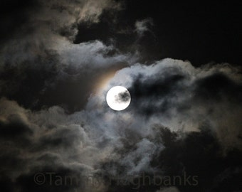 Hunter's Moon, Harvest Moon, Full Moon photo wall art, framed option available
