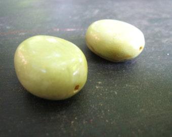 Chunky Yellow Turquoise Beads Craft Supply Semi Precious Stones Destash Jewelry Supplies