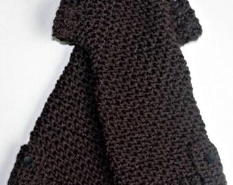 Dark Grey Fingerless Gloves/Arm Warmers