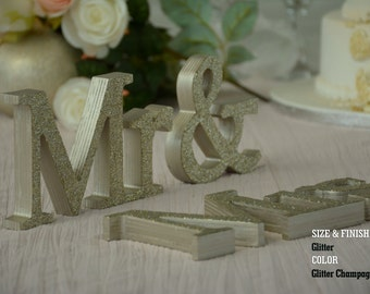 Oil Based Mr and Mrs, Wall Decorations, Plum Sign Mr & Mrs,
