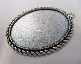 Cabochon Blanks, 30X 40 MM, Oval, Base Metal, Pendant Blanks, Great For Lapidary People, #4030B