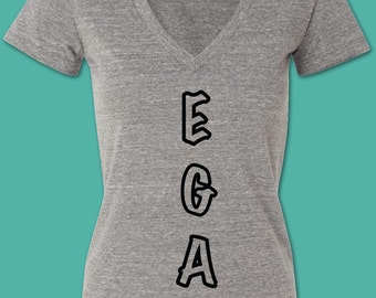 V-egan V-neck Tee Shirt!
