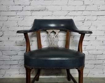 Leather  Vintage Bankers Chair