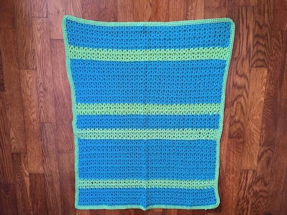 Handmade Crochet Afghan Baby Blanket Lap Quilt Crochet