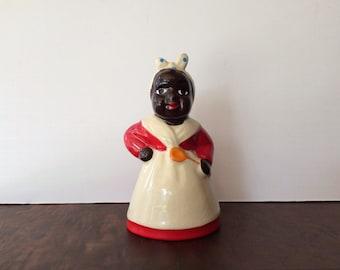 Vintage Black Americana Mammy Aunt Jemima Ceramic Salt or Pepper Shaker