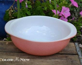 Vintage Pyrex - Desert Dawn - Pink Speckled Casserole Dish- 024 2 Quart