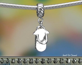 Sterling Silver Sled Charm or European Style Charm Bracelet Solid .925