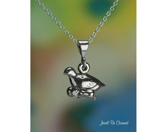 """Sterling Silver Partridge Necklace with 16-24"""" Chain or Pendant Only"""